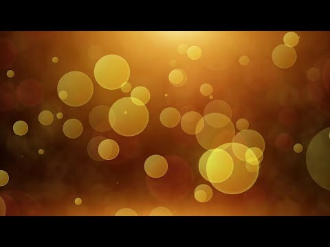 Golden Bokeh - HD Video Background Loop - Bokeh Particles With Flare Left Fly 3d Space