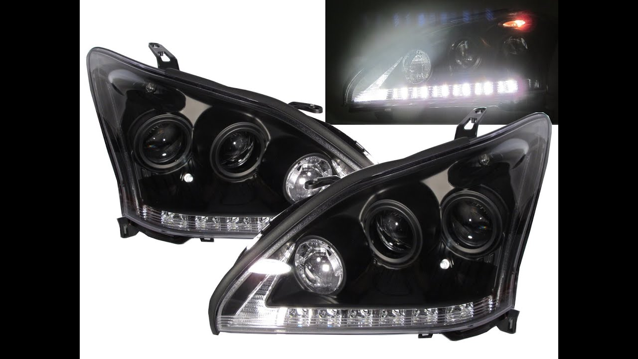 lexus rx350 2014_CrazyTheGod RX330/RX350/RX400h XU30 2003-2009 Projector Headlight BLACK for LEXUS ...