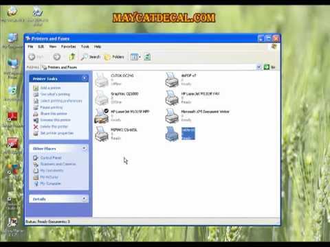 Hướng dẫn cài đặt, thiết lập thông số phần mềm máy GCC Sable 60