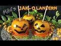 JACK-O LANTERN TOFFEE APPLES FOR HALLOWEEN - EASY RECIPE BY A KID