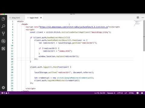 Intro to MongoDB Stitch: Using Stitch Authentication Providers