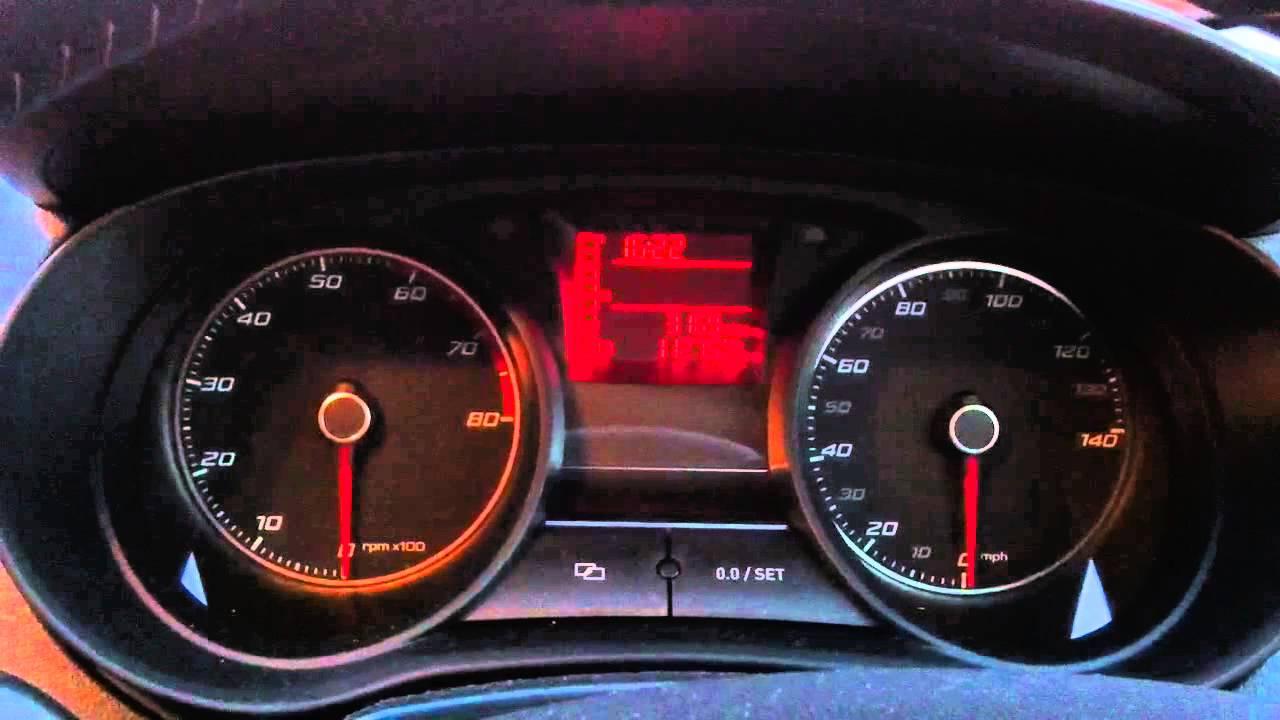 Seat Ibiza 2012 Dashboard Warning Lights On Start Up Youtube