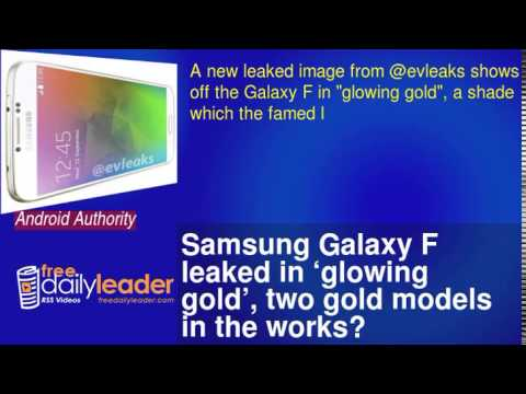 Samsung Galaxy F leaked in 'glowing gold', two gold models in the works?