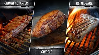 Chimney vs Griddle vs Weber which sears the best SOUS VIDE STEAK?