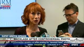 """MUST WATCH: Kathy Griffin Speaks About """"Severed Head"""" Photo, Death Threats @ Press Conference (FNN)"""