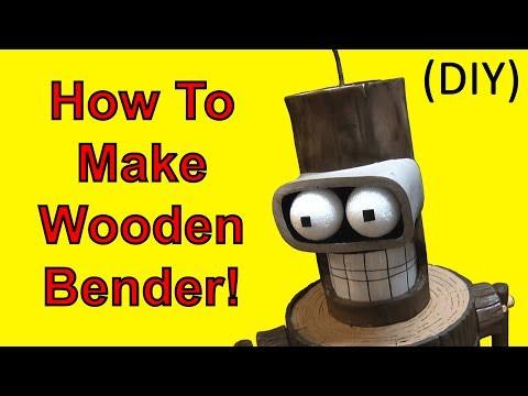 How To Make Wooden Bender (Futurama DIY)