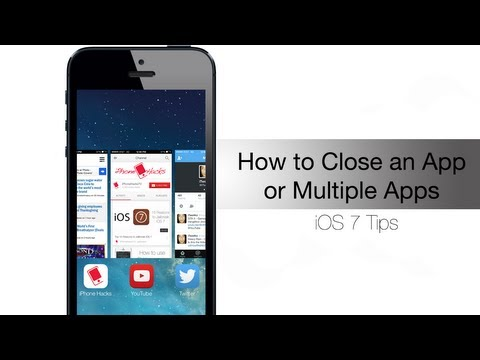 How to close an app or multiple apps in iOS 7
