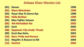 Arbaaz Khan Movies List