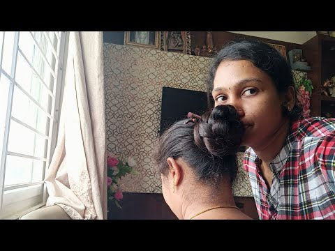 most requested video/my friend long hair bun smelling/Luckylaxmitips&thoughts
