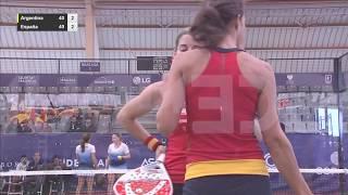 FInal Femenina por equipos. Mundial Pádel Lisboa 2016