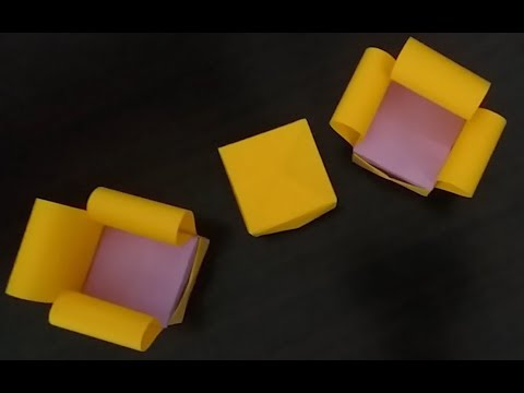 DIY small paper Sofa with table for kids || miniature craft for Fairy house