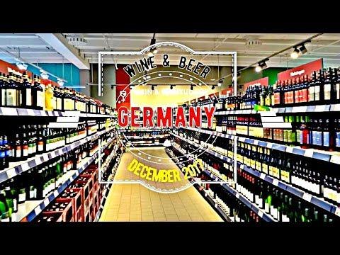 German Wine & Beer in a Stuttgart Supermarket December 2017