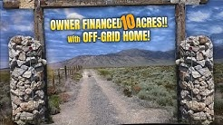 Off-grid home on 10 acres with MOUNTAIN VIEWS! - Nevada!