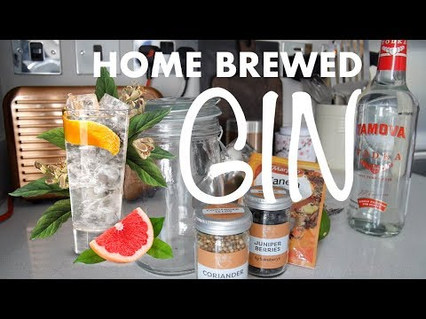 Making Home Brewed GIN - Compound Gin