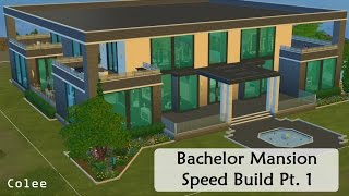 Sims 4 - Bachelor Mansion Speed Build - Pt. 1