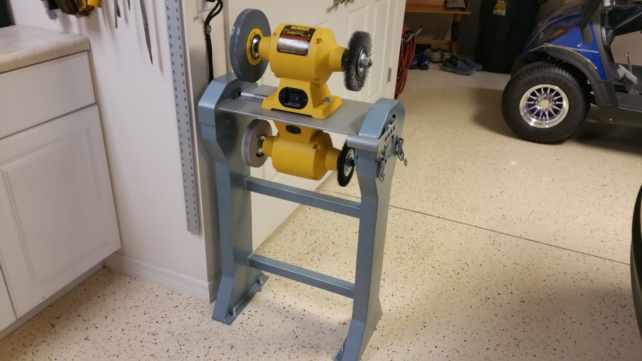 Rotating Dual Bench Grinder Stand Youtube