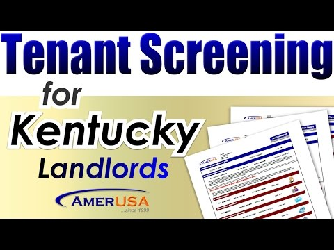 Kentucky Tenant Screening Services for Landlords