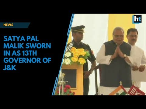 Satya Pal Malik sworn in as 13th Governor of J&K