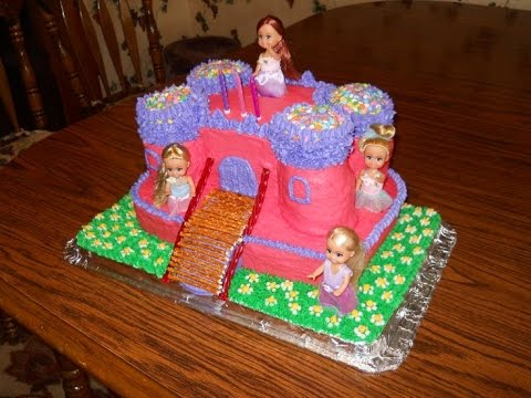 How To Make Little Girls Castle Cake YouTube