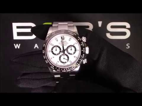 Pre-Owned Rolex Daytona 116500 Ceramic Bezel With White Dial For Sale