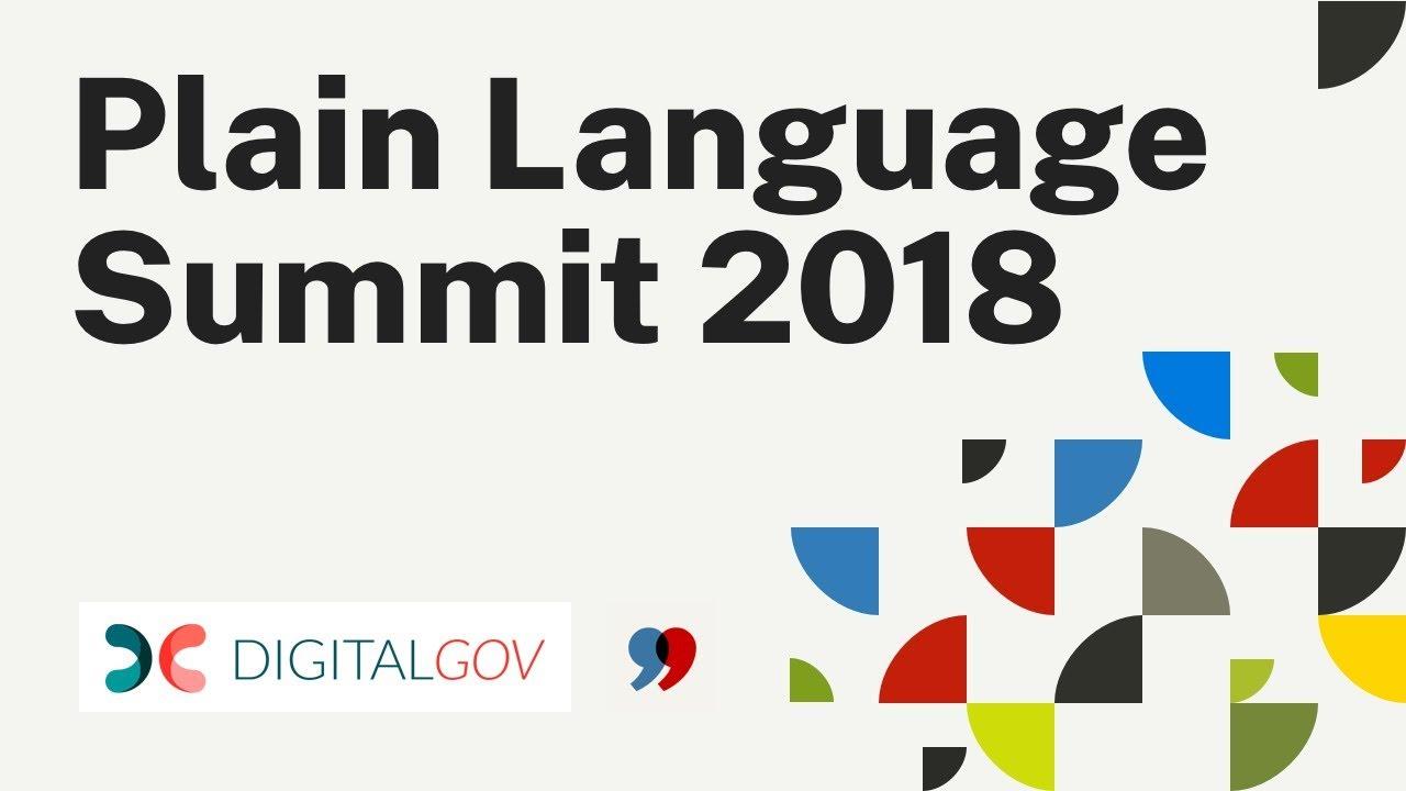 Plain Language Summit 2018 / Digital gov