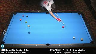John Morra vs Shaun Wilkie - 9-Ball - 2019 Derby City Classic
