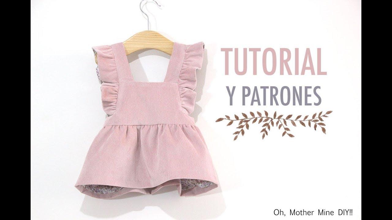 DIY Costura pichi de pana para niñas (patrones gratis) - YouTube