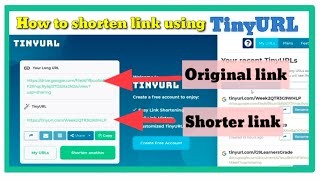 HOW TO SHORTEN A LINK USING TINY URL