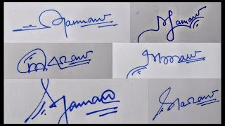 !!  Cool Signature Dude. !! Signature of alphabet M 👀