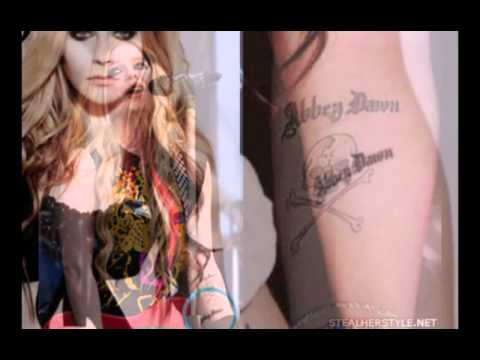 Avril's tattoos
