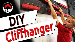How to build a cliffhanger in under 3 mins! Quick and easy DIY American Ninja Warrior Obstacle!