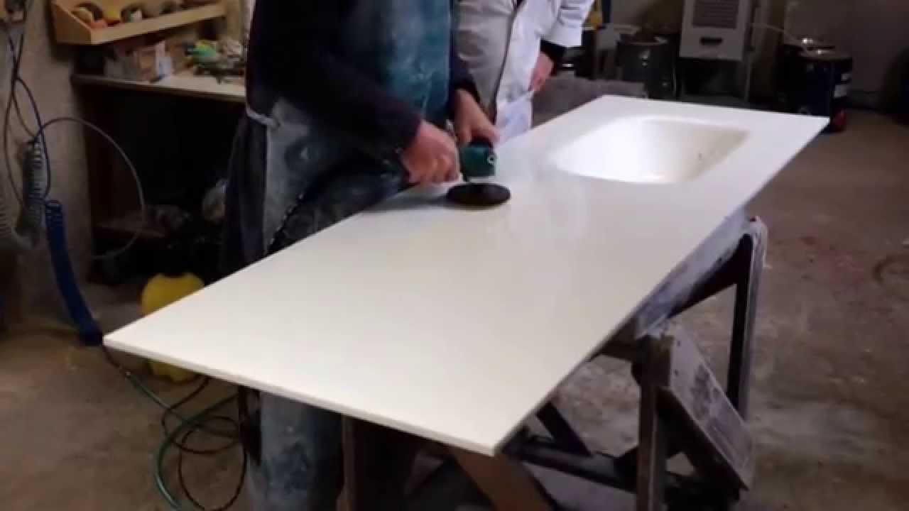 Lucidatura piano cucina in vetro con nuova lucidatrice pneumatica ...