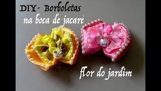 Borboletas Para Aplique – Na base boca de Jacaré