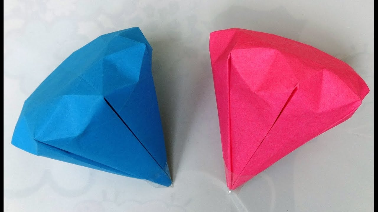 How To Make A Paper Diamond DIY
