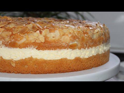 Gâteau allemand Nid d'abeille -Bienenstich Kuchen Rezepte einfach -كيك لسعة النحل الالمانية