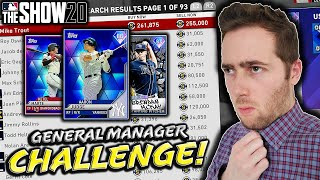 GENERAL MANAGER CHALLENGE...MLB THE SHOW 20 DIAMOND DYNASTY