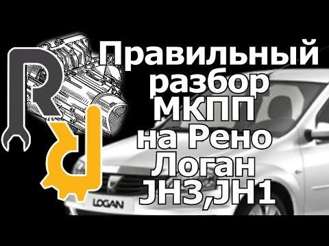 Разбор МКПП JH3 на Рено Логан