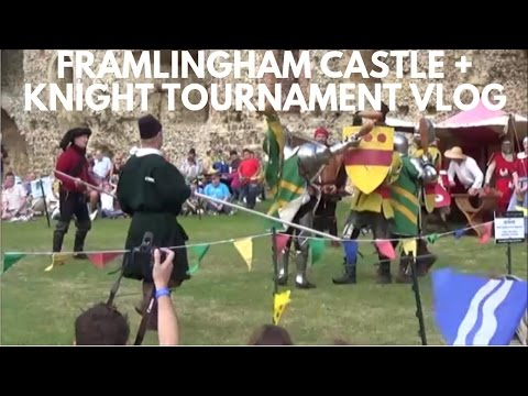 FRAMLINGHAM CASTLE + KNIGHTS TOURNAMENT | VLOG