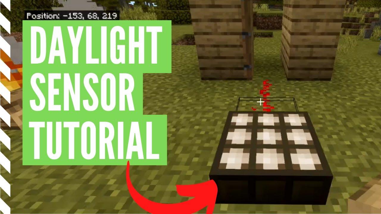 How To Make And Use A DAYLIGHT SENSOR (Minecraft Daylight Sensor Tutorial)