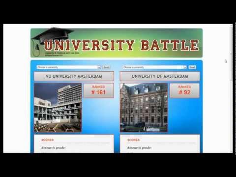 University Battle - A semantic web application demo
