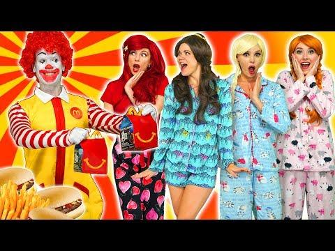 McDONALDS HAPPY MEALS. DISNEY PRINCESS SLEEPOVER. (Elsa, Ariel, Anna, Belle and Rapunzel) Totally TV