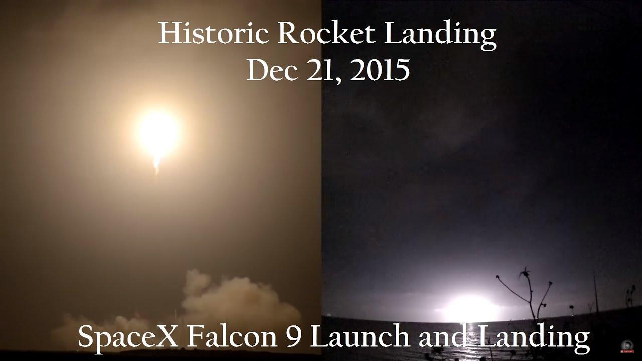 Historic Rocket Landing - SpaceX Falcon 9 - Dec 21, 2015 ...