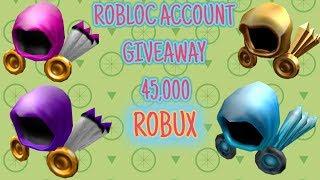 ROBLOX Account Giveaway ( 45,000 ) Robux!!!! Read Description