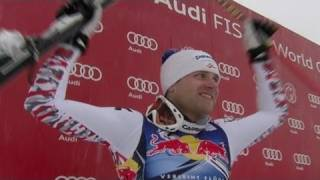 Romed baumann 2nd in kitzbuehel downhill - from universal sports
