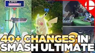 40+ Changes in Smash Ultimate