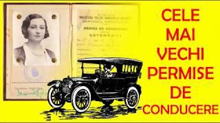 Cele mai vechi permise de conducere din Romania - 100 de ani - cel mai vechi permis auto