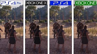 Assassins Creed Odyssey | PS4 vs ONE vs ONE X vs PS4 Pro | 4K Graphics Comparison & FPS