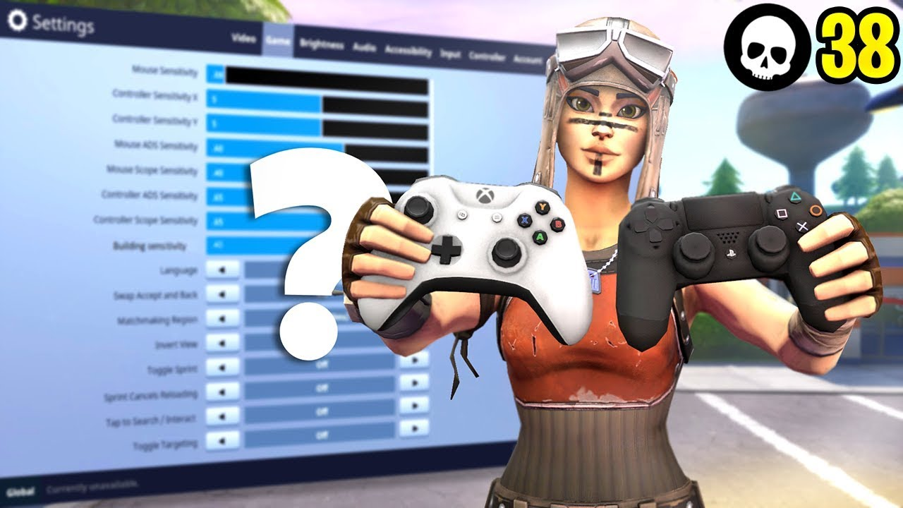 BEST Controller Fortnite Sensitivity + Settings + Dead Zone! (PS4 + Xbox  Fortnite Season 8)