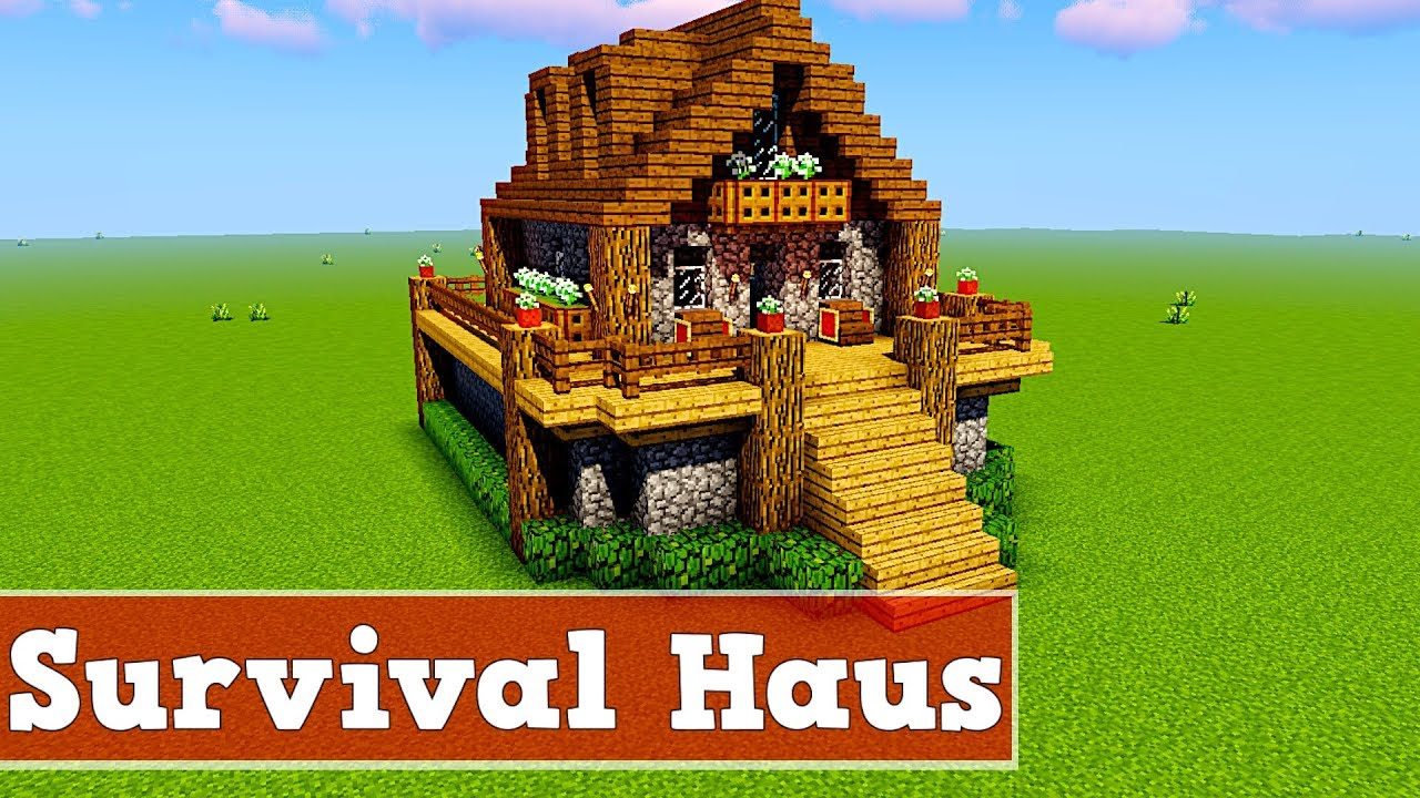 wie baut man ein survival haus in minecraft minecraft survival haus bauen deutsch youtube. Black Bedroom Furniture Sets. Home Design Ideas