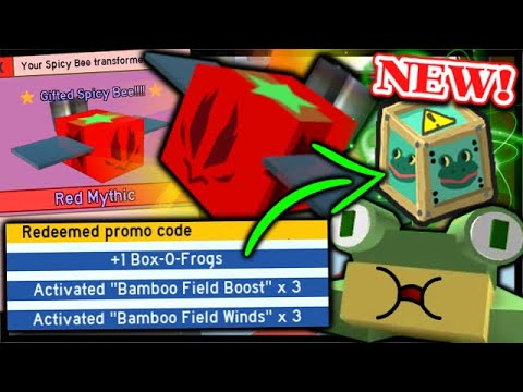 *NEW* CODE Free Box O' Frogs, GIFTED Spicy Bee & ATOMIC Treats | Roblox Bee Swarm Simulator